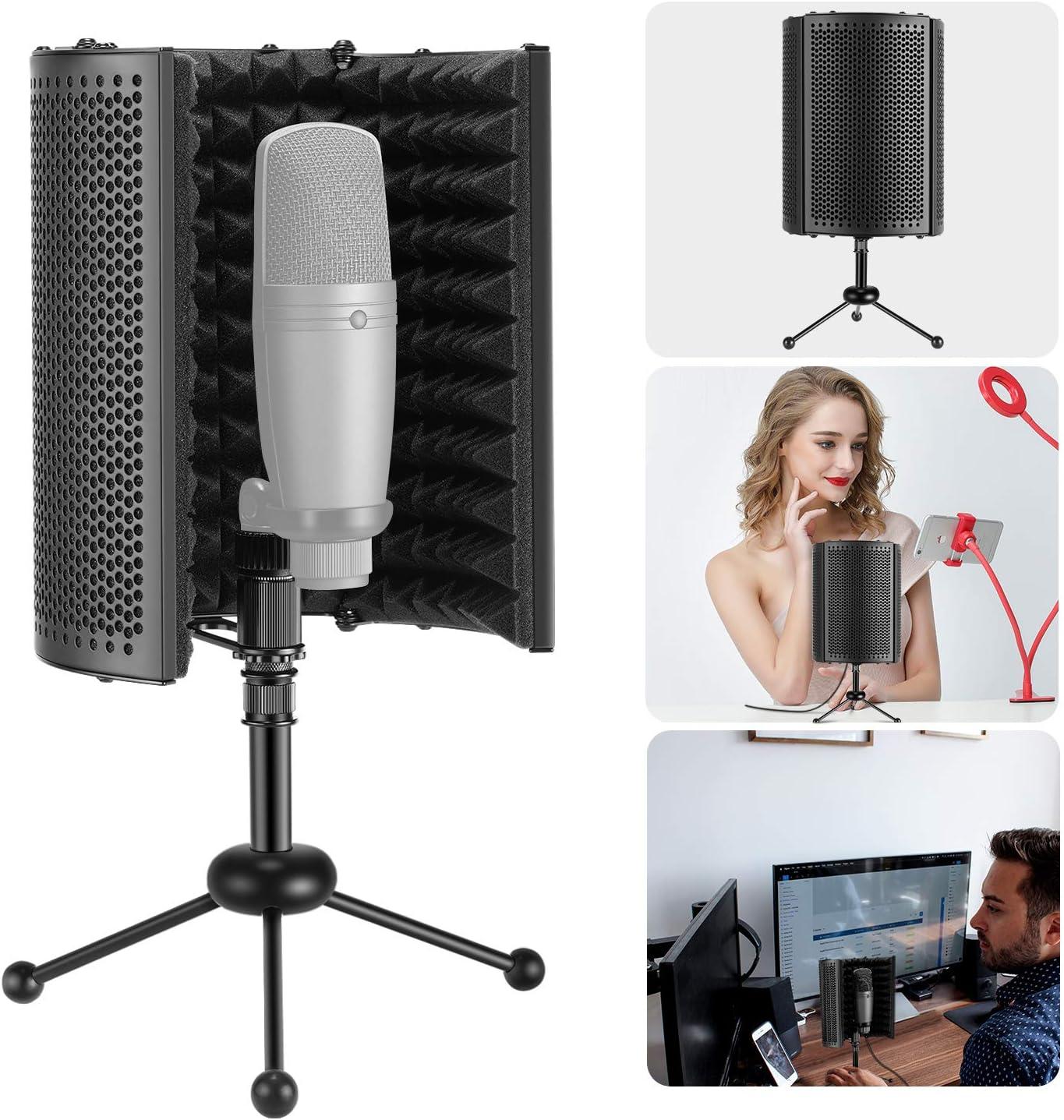 Neewer/® 4 piezas Universal micr/ófono Shock Mount Mikrofonhalter soporte para Radio Broadcasting Studio Voice-over Sound Studio y Recording negro