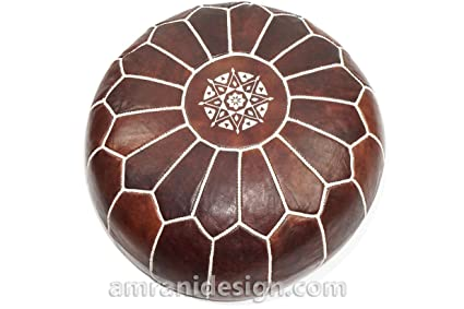 Amazon Stuffed Moroccan Pouf Pouffe Ottoman Poof Color Adorable How To Stuff A Moroccan Pouf