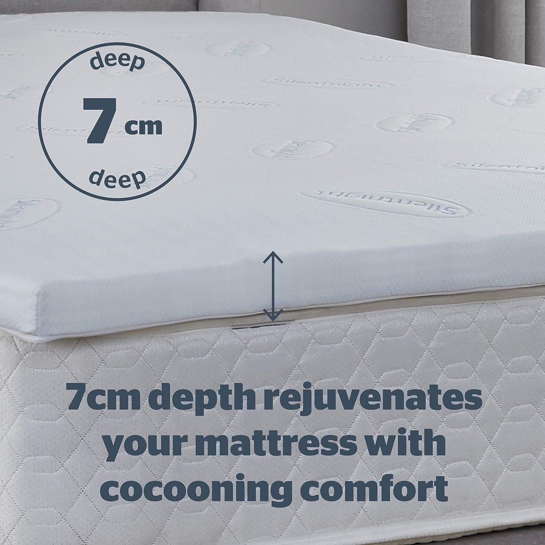 Silentnight Impress 7cm Memory Foam Mattress Topper in 4 Sizes