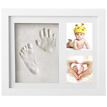 Amazon.com : Baby Hand Print Kit Newborn Picture Frame Creative Baby ...