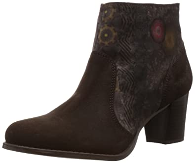 20115b10079d Desigual Womens Julia Ankle Boots 46AS639 Brown 3.5 UK