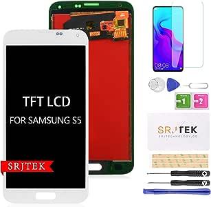 srjtek - Pantalla LCD de repuesto para Samsung Galaxy S5 G900, G900, G900MD, G900A, G900A, G900A, G900A, pantalla táctil, montaje de cristal, (no AMOLED): Amazon.es: Electrónica