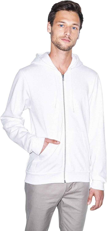 American Apparel Mens Unisex Flex Fleece Zip Hoodie