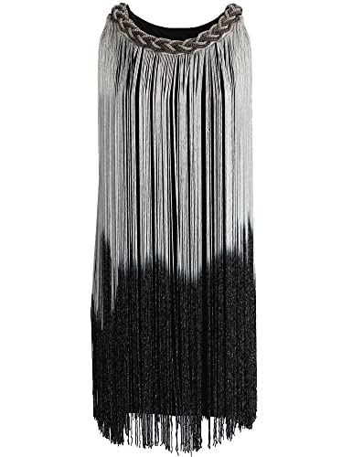 KAYAMIYA Women's Chain Neck Swing Ombre Draping Tassel Flapper Gatsby Cocktail Dress