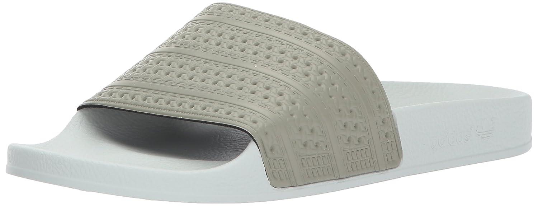 adidas Men's Adilette Slide Sandal B01N2TQR3L 4 D(M) US|Tech Beige/Tech Beige/Linen Green