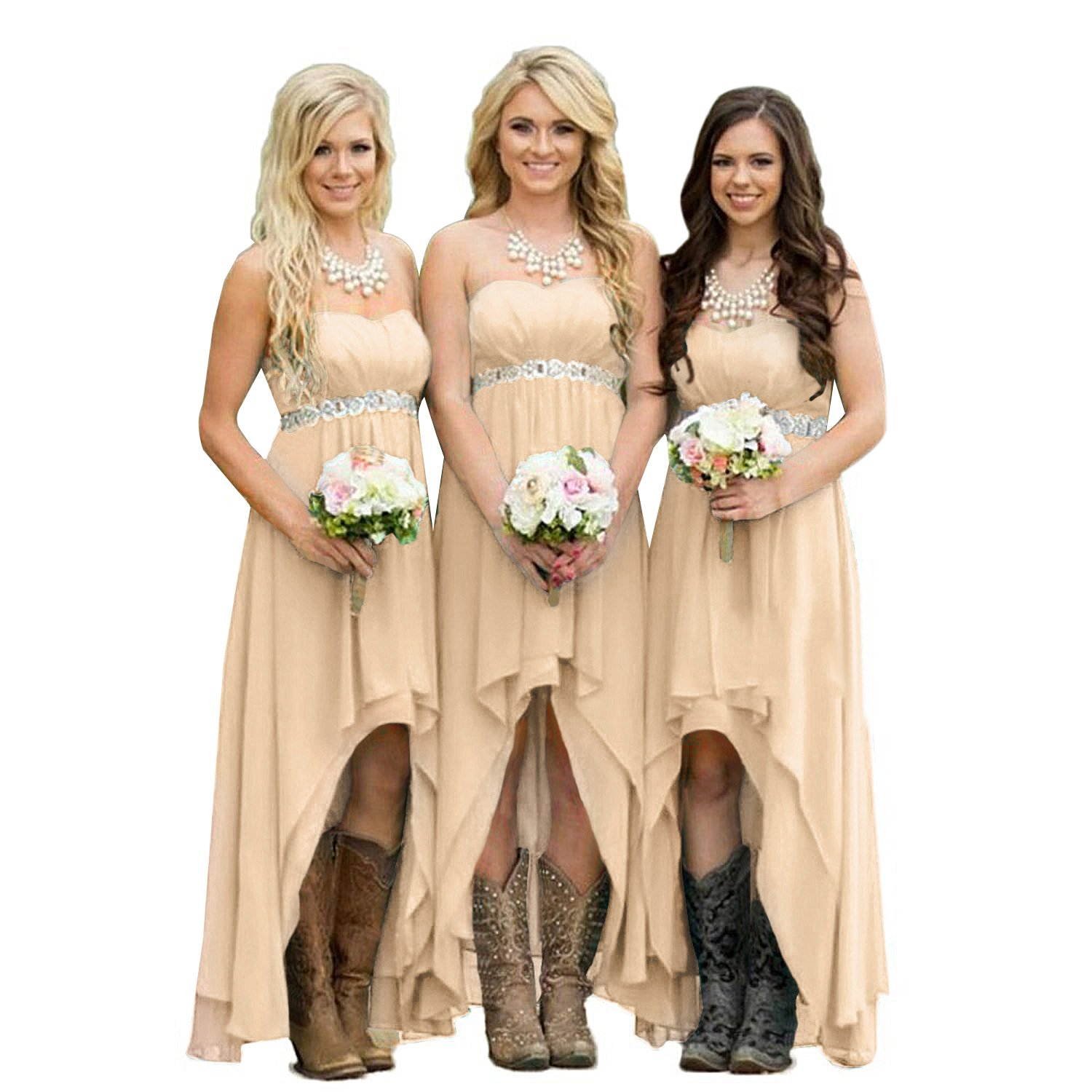 High Low Bridesmaid Dresses Wedding