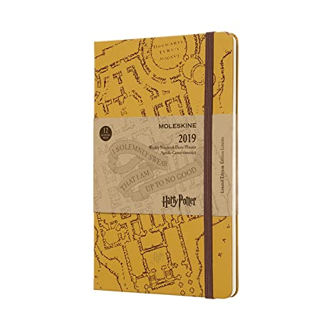 Moleskine Limited Edition Harry Potter 12 Month 2019 Weekly Planner, Hard Cover, Large (5
