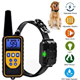 YiPet 800 Yards Range Remote Dog Training Collar, Rechargeable and IPX7 Rainproof Dog Shock Collar with Beep, Vibration and Shock, Electric Dog Collar for Puppy, Small, Medium and Large Dogs