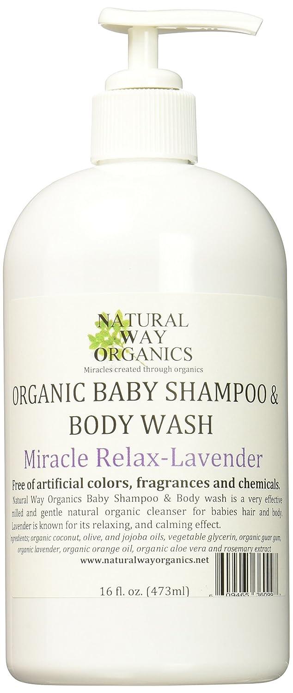 Natural Way Organics Organic Baby Shampoo & Body Wash Miracle Relax - Lavender 16 Oz.