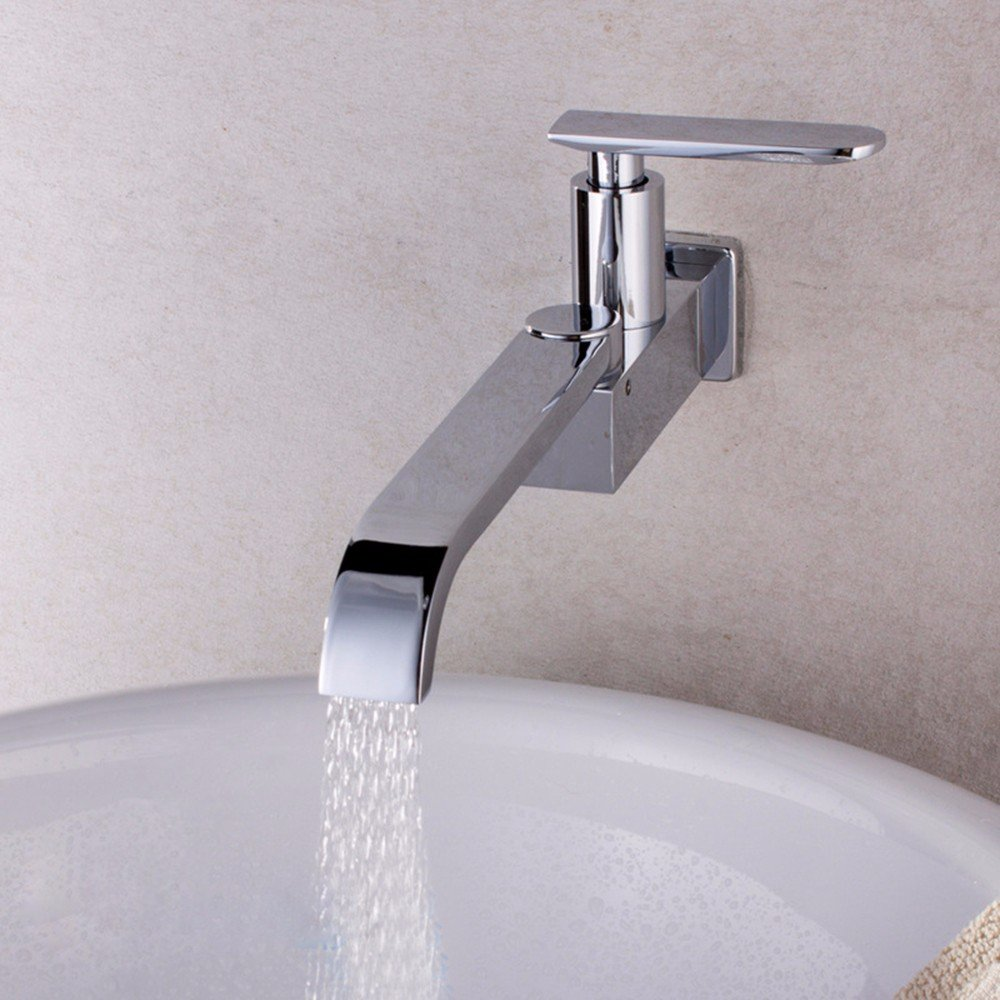Hlluya Professional Sink Mixer Tap Kitchen Faucet Kitchen faucet, folding kitchen faucet, basin sink into the wall mounted single cold water taps
