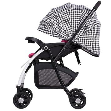 JZM Cochecito De Bebé Paisaje Alto Carro Amortiguador De Niños Puede Sentarse Cochecito De Bebé Reclinable Cochecito Plegable Reversible,B: Amazon.es: Hogar