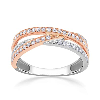 ca7f579ca69f7 Buy Malabar Gold and Diamonds 18KT Two Color Gold and Diamond Ring ...
