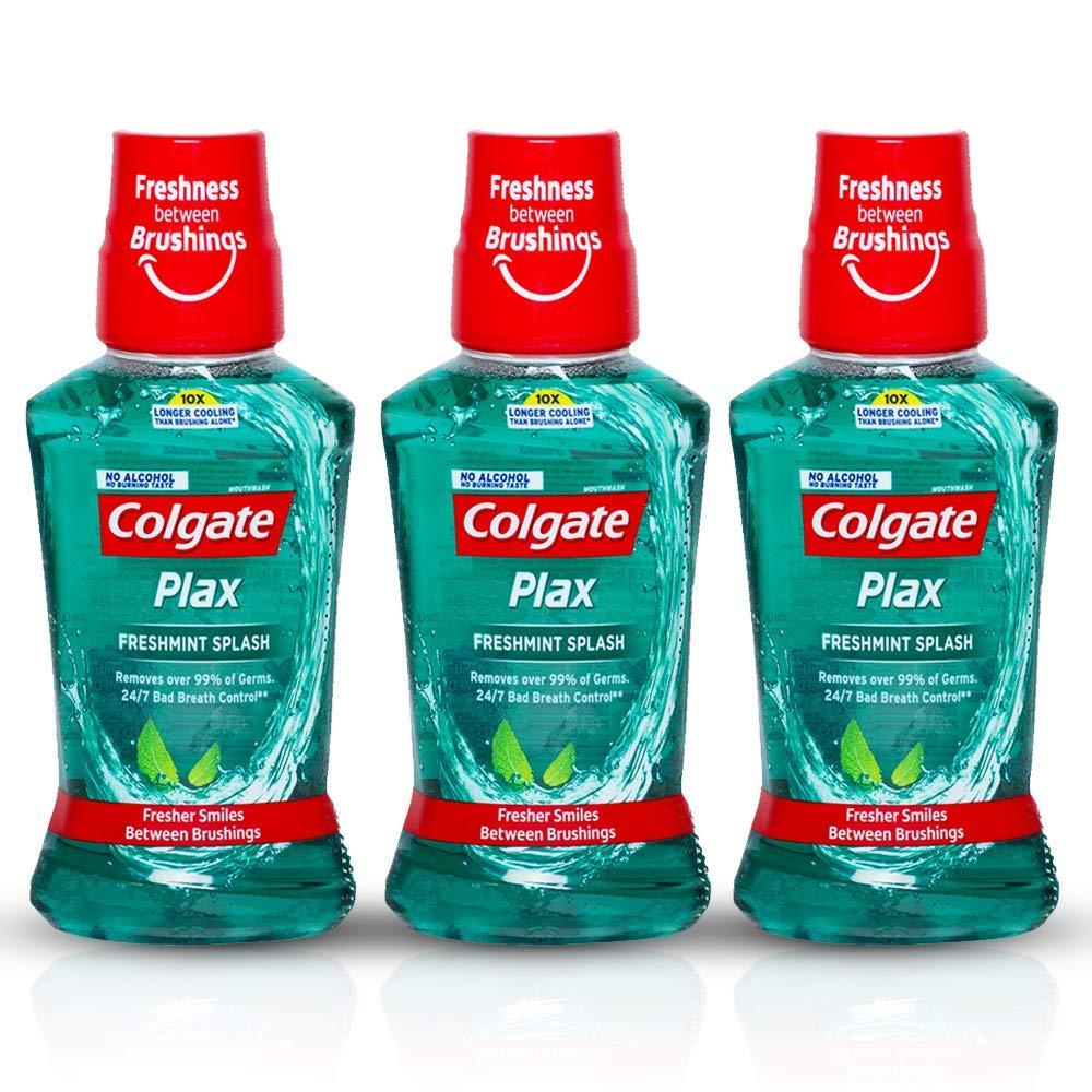 Colgate Plax Fresh Mint Mouthwash, 250ml (Pack of 3) product image