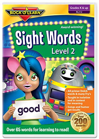 Amazon com: Sight Words Level 2 DVD by Rock 'N Learn: 65+