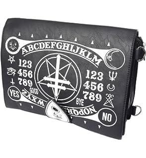 JapanAttitude Sac occult, noir imitation cuir avec imprimé ouija et  symboles occultes, gothique nugoth 0702145ce78