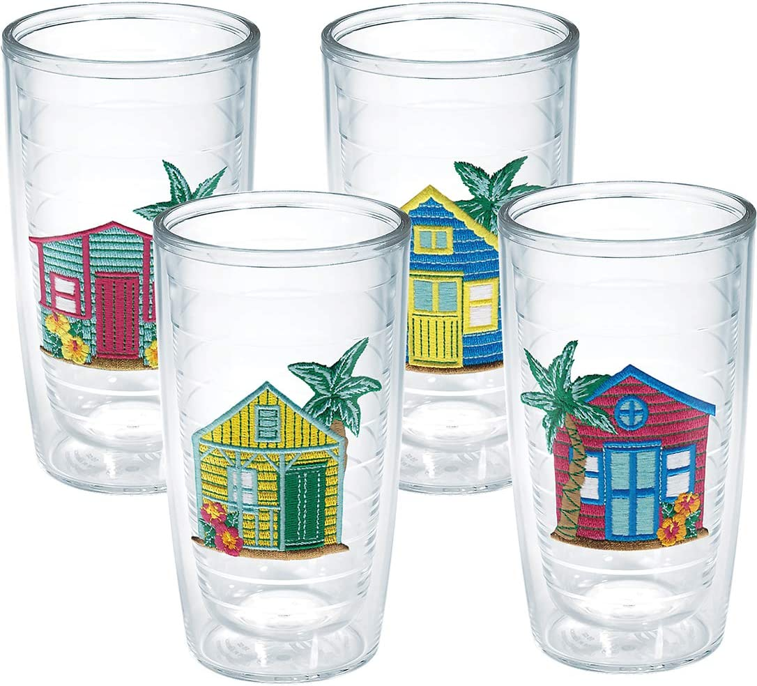 Tervis Beach House Insulated Tumbler with Emblem 4 Pack - Boxed, 16oz, Clear