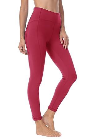 "eb75370ba7 QUEENIEKE Women 25"" Yoga Leggings Ninth Pants Power Flex Medium Waist  Gym Running Tights Size"