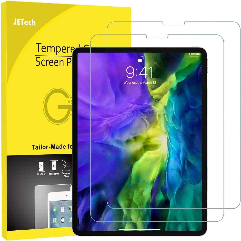 JETech Protector de Pantalla Compatible iPad Pro 11 Pulgadas (2020 y 2018 Modelo, Borde a Borde Pantalla Liquid Retina), Vidrio Templado, 2 Unidades