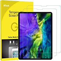 JETech 2-Pack Screen Protector for iPad Pro 11-Inch (2020 and 2018 Release Edge to Edge Liquid Retina Display), Face ID Compatible, Tempered Glass Film