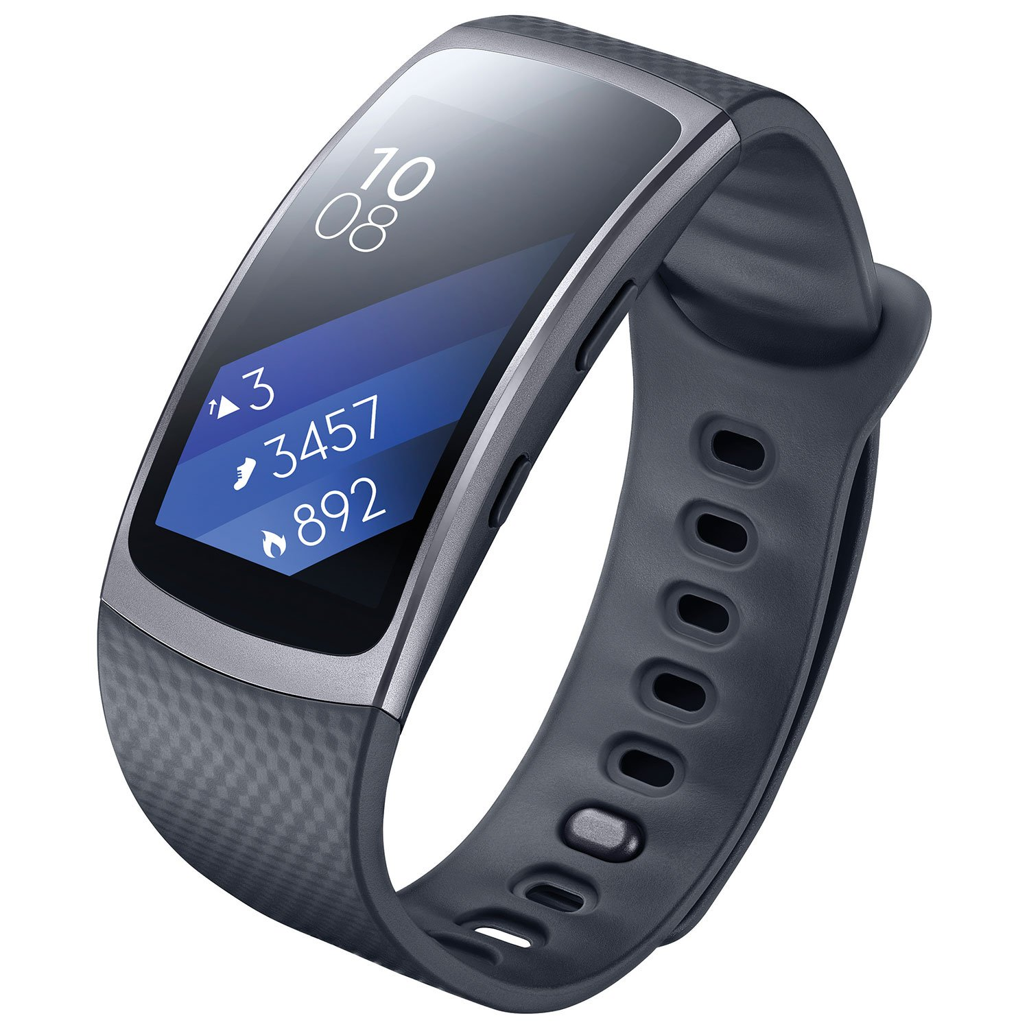 Samsung Gear Fit 2 SM-R360 - Smartwatch de 1.5 (4 GB, 1 GHz, 512 MB RAM, Tizen, talla L), color negro [Asia Version]