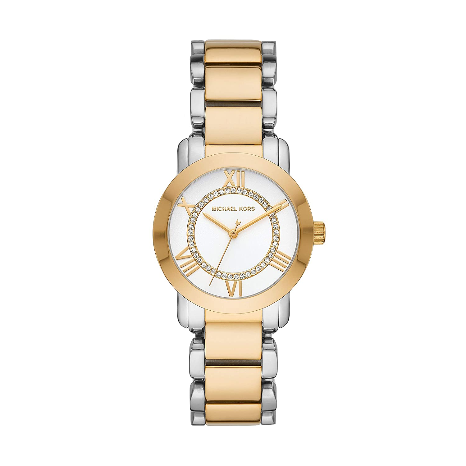a40cc7a3d4f3 Amazon.com  Michael Kors Women s Janey Two Tone Stainless Steel Watch  MK3531  Watches