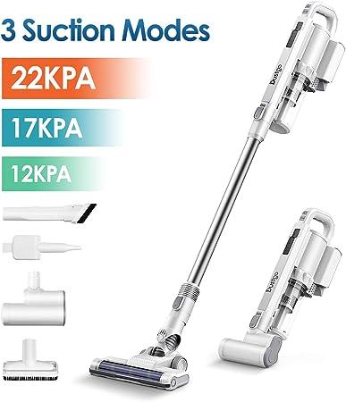 Dustgo Aspiradora Escoba,22000Pa Aspiradora sin Cable Vertical,6 ...