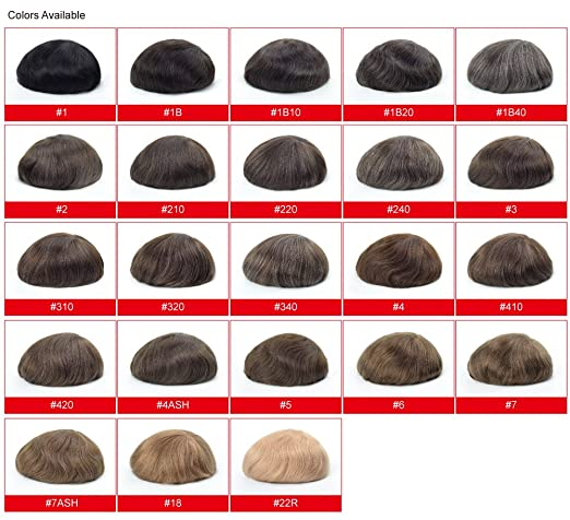 Amazon.com : Lordhair Hair Replacement Wig Hair Pieces Human Hair Skin Mens Toupee Black Color 1A# Cap Size 6X8 Toupee For Men : Beauty
