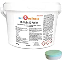 well2wellness Chlortabletten Multitabs 10-Action 200g mit 10 Funktionen - 3,0 kg