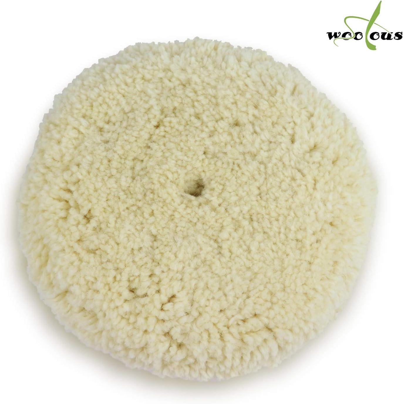 Pure Wool Compounding Pad for Car Motorcycle Washing Machine Refrigerator Furniture Cabinets Buffer Polisher Sanding,Polishing Woolous 7//180mm Polishing Buffing Pad