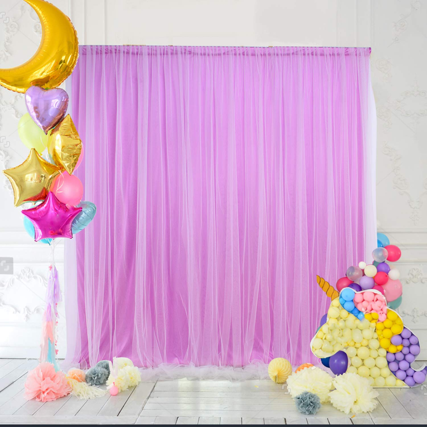 Amazon Com Purple Tulle Backdrop Curtain For Parties Wedding Baby