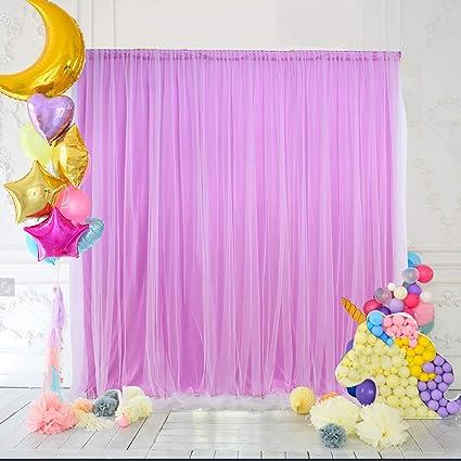 Purple Backdrop Curtain Baby Shower Home Decorations Amazonin