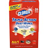 Clorox Triple Action Dust Wipes, Extra-Large, 26 Count Box