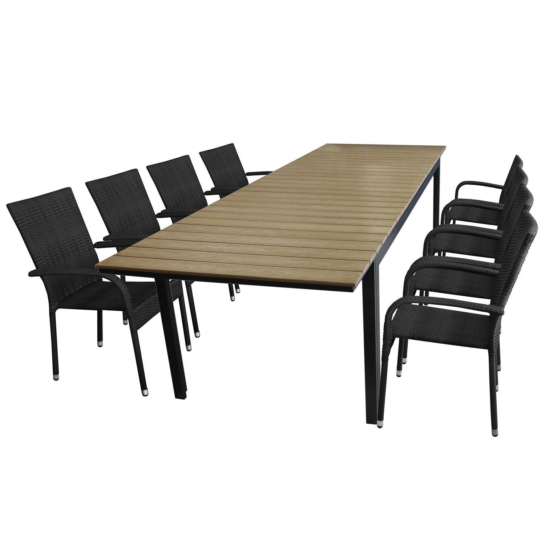 9tlg Gartengarnitur Sitzgarnitur Sitzgruppe Gartenmobel Set