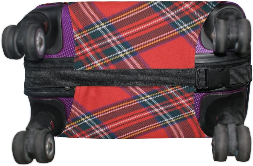 Fits 18-32 Inch LORVIES Royal Stewart Tartan Print Travel Luggage Protective Covers Washable Spandex Baggage Suitcase Cover