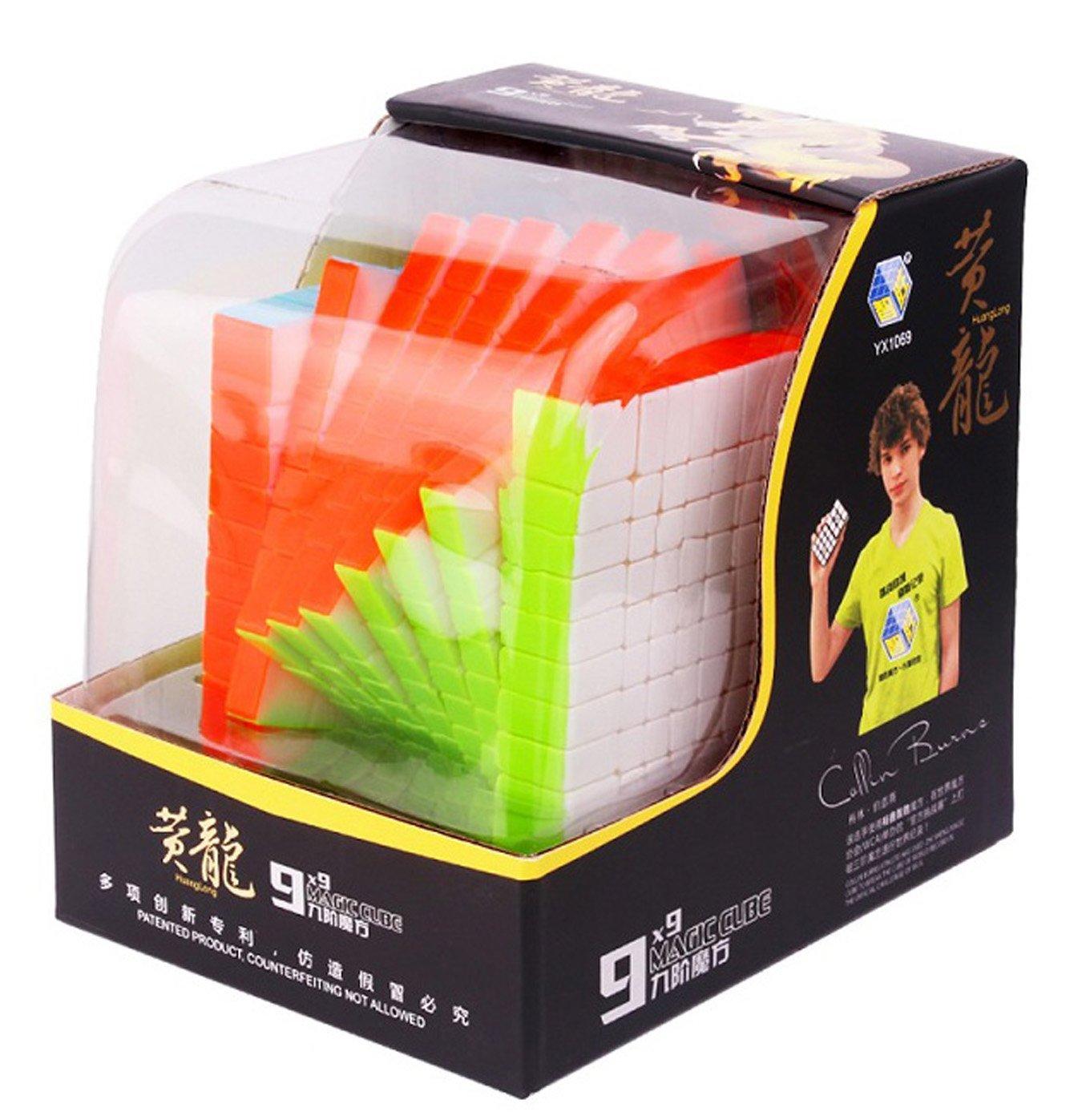 ZHISHENG 7x7x7 bis 11x11x11 Pro Magischer Würfel Ohne Aufkleber Magic Cube Puzzles Spielzeug (11x11x11, Schwarz Gef t 9x9x9