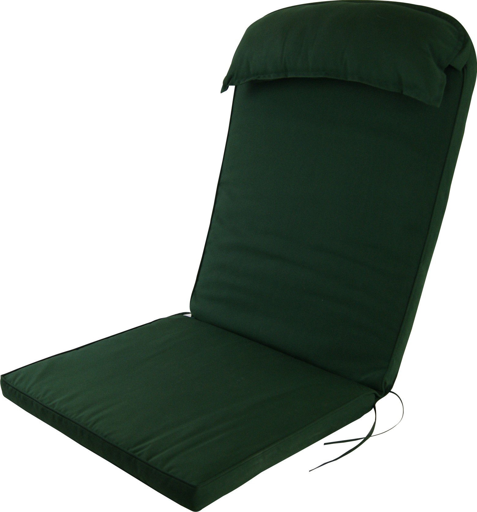 Plant Theatre Adirondack Chair Luxury High Back Cushion with Head Pillow in Evergreen by Plant Theatre