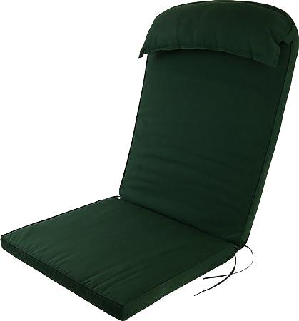 Plant Theatre Adirondack Chair Luxury High Back Cushion Head Pillow