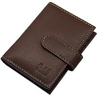 XXL Cuero de búfalo Caja de la Tarjeta para un Total de 22 Tarjetas de credito (Marrón)