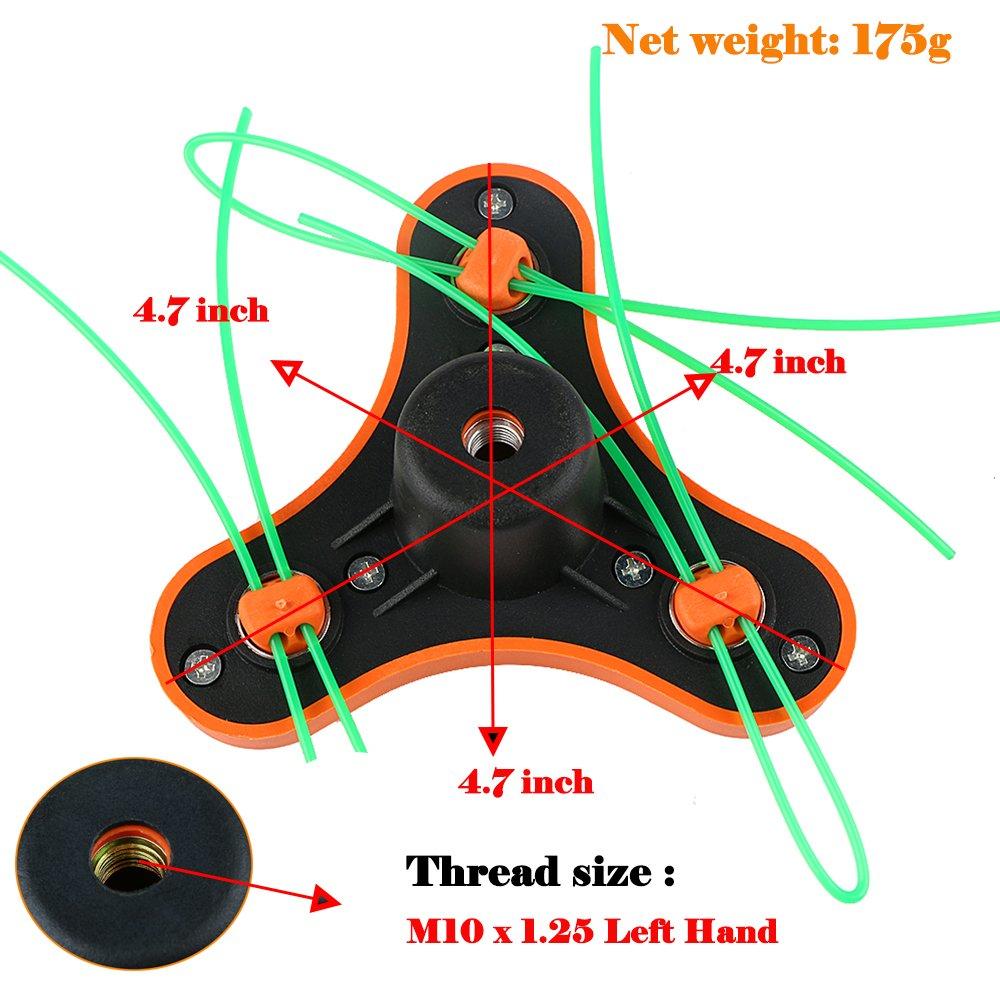 Balls Home Pivotrim String Trimmer Straight Shaft Vmi Wiring Diagram Attachment Head M10 X 125 Left Hand Thread Triangular Garden Outdoor