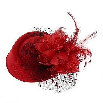 Lunji Womens Fascinator Hat Tea Party Hats Pillbox Hat Derby Hat for Women Beige