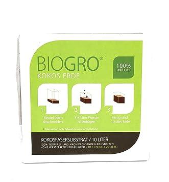 biogro® de coco tierra para macetas – En Bolsa De Fuente – 10 L 20