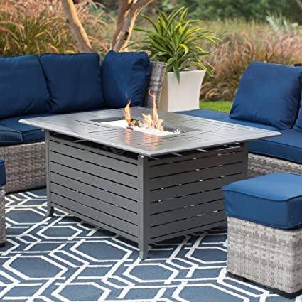 Rectangle Gas Fire Pit  Charcoal