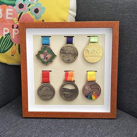 Caja expositora Insignias Caja exhibición medallas Marco para exhibir medallas,Medalla de Deportes Cuadro 3D Marcos de Fotos,para Mostrar Guerra Se ,puede seleccionar el tamaño marco de madera maciza: Amazon.es: Hogar