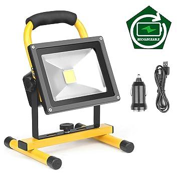 Foco LED Proyector, Lámpara Camping 20W, Foco LED Reflector para ...