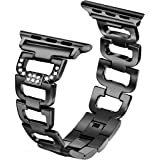 Amazon Price History for:Secbolt Bling Bands for Apple Watch Band 38mm Women Stainless Steel Metal Replacement Wristband Sport Strap for Iwatch Nike+, Series 3 2 1, Edition, 4 Colors Available