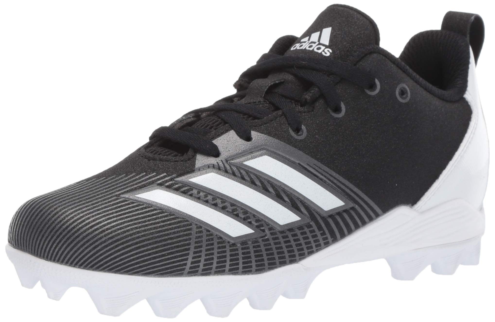 adidas Unisex Adizero Spark Md Football Shoe, Black/White/Night Metallic, 4 M US Big Kid by adidas