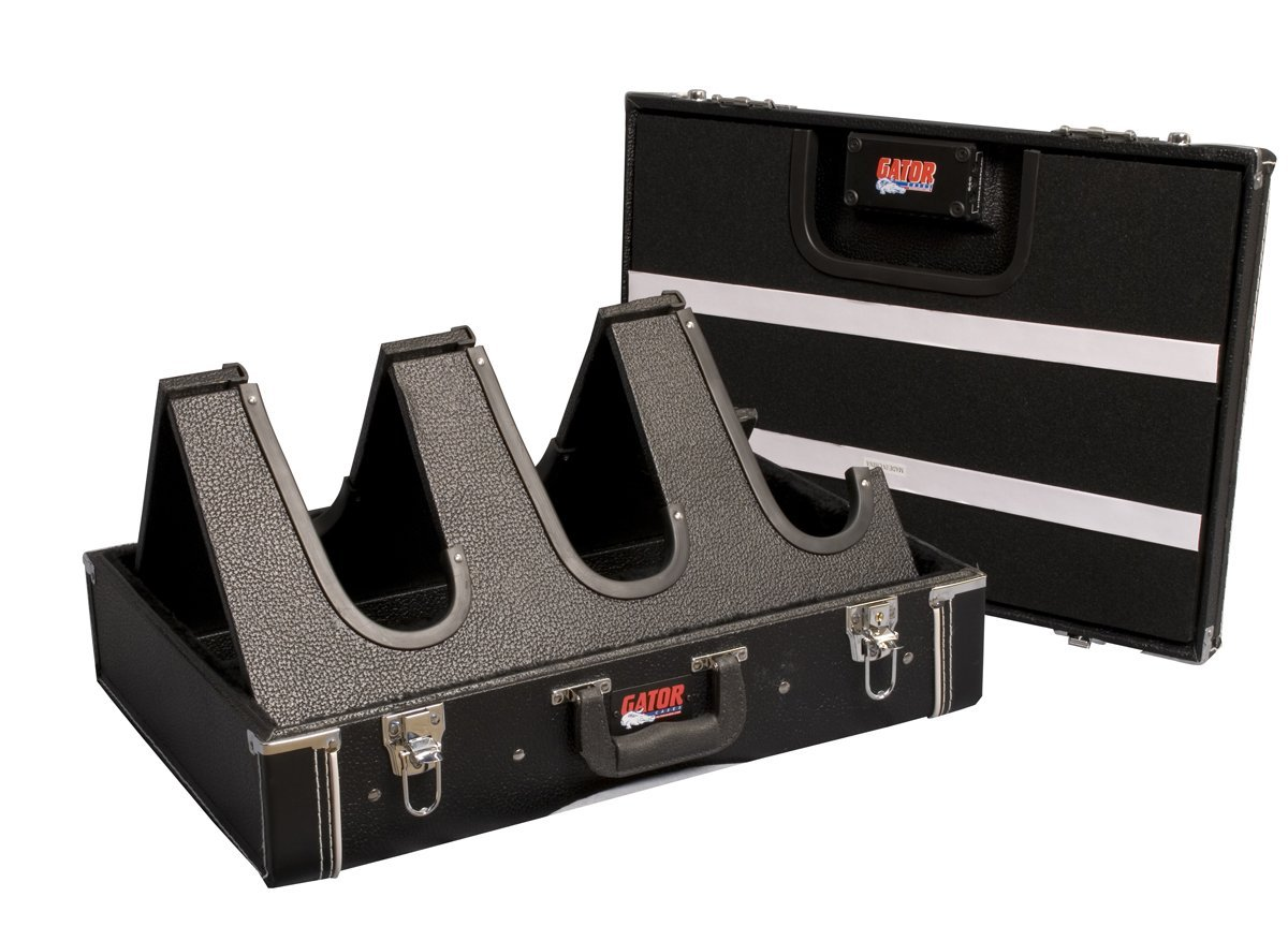 正規通販 Gator B001ECQPWU Casesコンパクト木製3ギターStand andペダルボード(ブラック) Gator B001ECQPWU, 新品入荷:9ea2a823 --- a0267596.xsph.ru