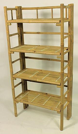Bambus Regal Bambusregal Mit 4 Boden Grosse B 60 Cm T 30 Cm