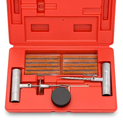 Tooluxe 50002L Universal Tire Repair Kit to Fix Punctures and Plug Flats, 35-Piece Value Pack, Ideal for Cars, Trucks, Motorcycles, ATV: Home Improvement