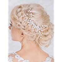 Aukmla Wedding Hair Combs with Bead for Bride and Bridesmaids
